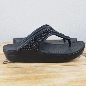 Crocs SLOANE DIAMANTE flip flop platform sandals